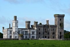 Wilton Castle. This is a late Summer picture of Wilton Castle located in Ennisworthy, Ireland. This castle once considered one of the grandest castles in Ireland royalty free stock photos