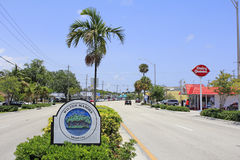 Wilton Manors Island City Sign Stock Image