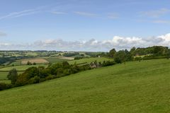 Wiltshire countryside near Corsham Stock Images