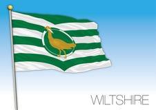 Wiltshire flag, United Kingdom, county of UK Stock Photos