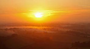Wiltshire Sunrise Stock Photo