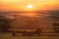 Wiltshire Sunrise Royalty Free Stock Photography