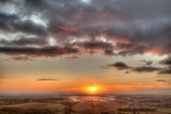 Wiltshire Sunrise Stock Images