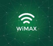 Wimax é um acrônimo para a interoperabilidade mundial para o acesso da micro-ondas - um padrão da tecnologia para o rádio de long Foto de Stock