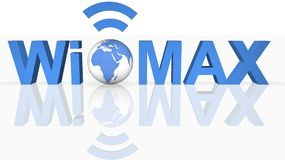 WiMAX Technology. Image of WiMAX Technology in 3D Stock Images