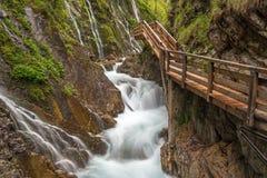 Wimbachklamm gorge. Near Berchtesgaden, Germany Stock Photos