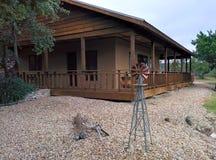 Wimberley kabin i Texas Arkivbilder