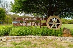 Wimberley Texas Sign Immagine Stock Libera da Diritti