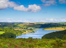 Wimbleball Lake Exmoor National Park Somerset. It is well known for its activity centre and is popular for walking, camping, birdwatching, angling, sailing Stock Photos