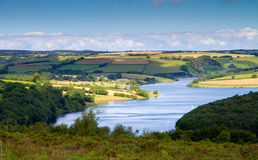 Wimbleball Lake Exmoor National Park Somerset. It is well known for its activity centre and is popular for walking, camping, birdwatching, angling, sailing Stock Photography