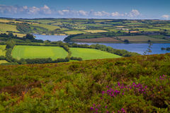 Wimbleball Lake Exmoor National Park Somerset. It is well known for its activity centre and is popular for walking, camping, birdwatching, angling, sailing Royalty Free Stock Photos