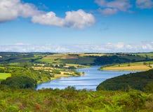 Wimbleball LakeExmoor nationalpark Somerset Arkivfoton
