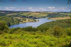 Wimbleball See Exmoor Nationalpark Somerset Stockbilder