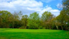 Wimbledon共同高尔夫球路线 库存图片