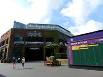 Centre Court, All England Lawn Tennis and Croquet Club. Wimbledon, United Kingdom. Wimbledon, All England Lawn Tennis and Croquet Club. Centre Court. UK royalty free stock photo