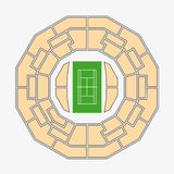 Wimbledon 2. centre court plan Royalty Free Stock Images