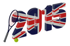 Wimbledon Championships 2015 concept. Isolated on white background Royalty Free Stock Image