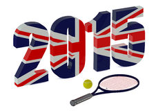 Wimbledon Championships 2015. Isolated on white background vector illustration