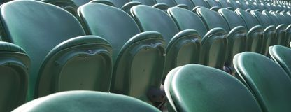 Wimbledon's Green seats Stock Photo