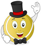 Wimbledon Tennis Ball with Hat & Bow Tie Stock Photography