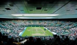 Wimbledon tennis centre court tilt shift royalty free stock photo