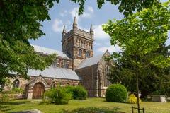 Wimborne domkyrka Dorset England royaltyfri foto