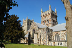 Wimborne Minster Church. Ancient Minster Church in Wimborne Royalty Free Stock Photos