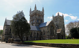 Wimborne Minster from the road Royalty Free Stock Image