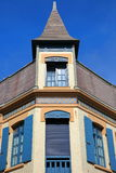 WIMEREUX FRANCJA, SIERPIEŃ, - 28, 2017: Tradycyjny i kolorowy dom, Cote d ` Opal, Pas de Calais, Hauts de Francja Obrazy Stock