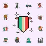Wimpel, de vlagpictogram van Ierland Voor Web wordt geplaatst dat en mobiel de pictogrammenalgemeen begrip van de StPatricksdag stock illustratie