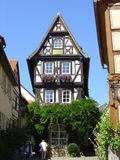 Wimpfen House. A very narrow medieval house in the old town of Wimpfen in the southern part of Germany Stock Photography