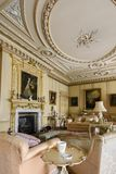 Wimpole Hall Drawing Room royaltyfri fotografi