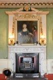 Wimpole Hall Green Room Fire Place stockbilder