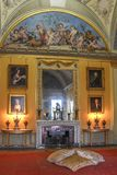 Wimpole Hall Yellow Room fotografia stock libera da diritti