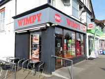 Wimpy fast food restaurant, 7 Money Hill Parade, Rickmansworth royalty free stock image
