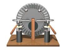 Wimshurstmachine met twee kruiken van Leiden 3D illustratie van elektrostatische generator fysica Het experiment van wetenschapsk vector illustratie