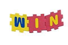 Win Alphabet Stock Photo
