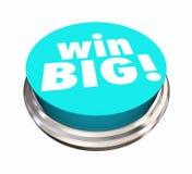 Win Big Button Jackpot Lottery Contest. 3d Illustration stock illustration