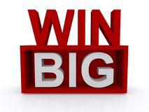 Win big sign Royalty Free Stock Image