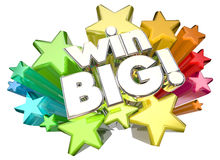Win Big Success Huge Results Stars Royalty Free Stock Photo