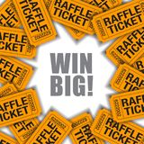 Win Big!  Is the theme of this graphic. With space for text.  Great for raffle poster vector illustration