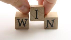 WIN blocks Royalty Free Stock Photography