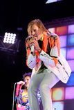 Win Butler, frontman of Arcade Fire (indie rock band) performs at Heineken Primavera Sound 2014 Festival. BARCELONA - MAY 29: Win Butler, frontman of Arcade Fire Royalty Free Stock Image