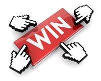 Win button Stock Photos