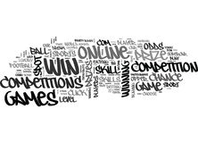Win A Car Online Word Cloud Stock Image