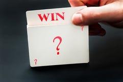 Win card Stock Photos