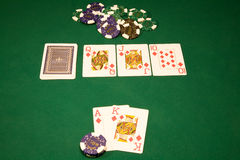 Win in the casino poker Royalty Free Stock Images
