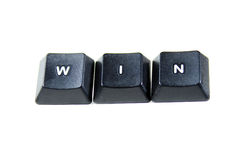 Win Concept. Using Keyboard Keys Stock Image