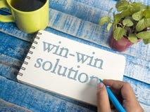 Win-Win Concept van Oplossingswoorden stock fotografie