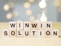 Win-Win Concept van Oplossingswoorden royalty-vrije stock foto